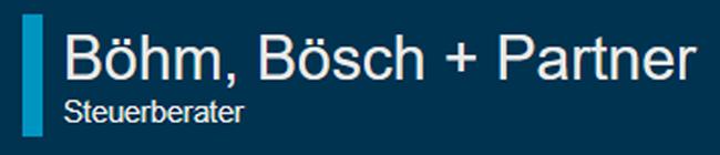 Logo: Böhm Bösch + Partner Steuerberater